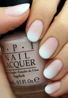White Ombre + Nude + Oval