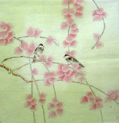 Vogels & Bladeren - Chinees schilderij