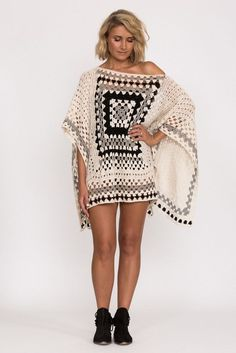 India Poncho - Crochet Inspiration - No Pattern - (firstborn):