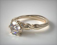 41074 engagement rings, solitaire, 18k yellow gold sapphire bezel diamond  engagement ring item - f6959848bb82