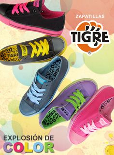 Colección Full colors para damas. Encuéntralo en www.zapatillastigre.com