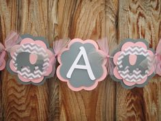 Elephant Banner It's a Girl Banner Baby Shower by Wildflowercraft, $22.50