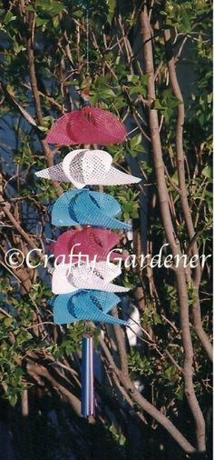 I have had this pinwheel twirler for several years. I purchased it one year at a camp trailer park where one of the campers made and sold all sorts of twirlers. This was my first introduction to twirlers and of course I just had to have some of them to hang on the trailer awning...