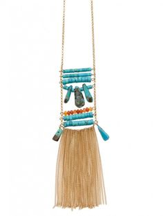 #BerryBrand Eclectic Turquoise Necklace is perfect for your summer #OOTD! #boho #necklace #jewelry