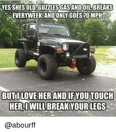 just some jeep stuff. remember keep the Jeep wave alive ! Jeep Meme, Jeep Jokes, Jeep Humor, Car Jokes, Jeep Funny, Jeep Wrangler Yj, Jeep Wrangler Quotes, Jeep Tj, Jeep Truck