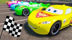 LEARN NUMBERS with Colors Lightning McQueen in Race Games - Disney Cars ...