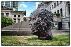 STAAFONLY in gum. On head at Vancouver Art Gallery. Sarah Staaf Photography