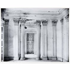 Front Parlor, Belle Grove Plantation - Can anyone imagine living in a room like this? Almost like an ancient Egyptian temple.... credit to Walker Evans