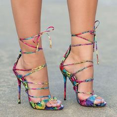 Amazing Lace-Up Heels                                                                                                                                                      More