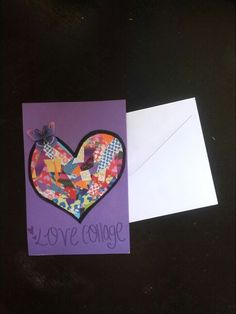Love collage card! Los preciosos recuerdos se arrinconan siempre en un pequeño lugar del corazón.