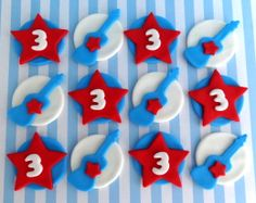 Hey, I found this really awesome Etsy listing at https://www.etsy.com/listing/128888705/12-fondant-edible-cupcakecookie-toppers