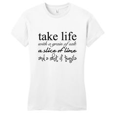 Take Life With A Grain Of Salt Women's Fitted T-Shirt - Sweetums Shirts
