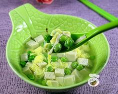 Snow Pea Beancurd Egg Soup.    Link with information      sas