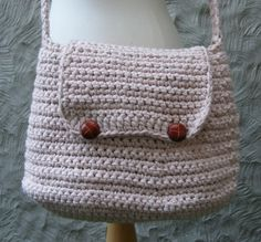 CROCHET PATTERN - Large Crochet Bag / Purse with Flap and Button Closure - Very Easy. $4.95, via Etsy.