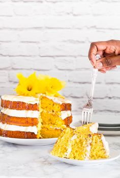Coconut  Mango Cake with Coconut Caramel  | Recipes From A Pantry