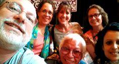 Nuestro selfie más internacional en el Salón Noble del Pazo de Fonseca. Asistentes de New Jersey, Seattle Alaska y NYC! 17 julio 2014