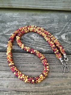 Kumihimo Beaded Necklace by ChuraumiSeaGlass on Etsy, $25.00