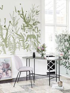 Interior Decoration Botanical Wallpaper   Alt Interiør