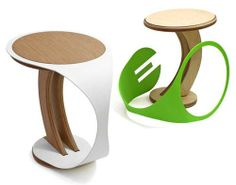 38 Creatively Designed Wooden Stools - From Wooden Screw-Like Seats to Sawdust Seats