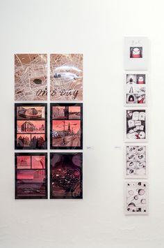 """""""One Day"""" de Elvira Infante Martín (Izquierda) y """"Zak"""" de Cristóbal Gallego Sánchez (Derecha). Género: Cómic. Foto: Lidia Fernández. #PremiosUGR2015 #ExposicionesUGR"""