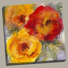 Orange Blossom II Painting Print on Wrapped Canvas
