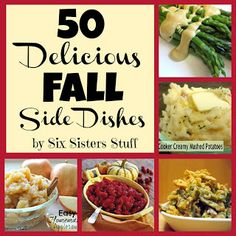 50 Delicious Fall Side Dishes from sixsistersstuff.com #sidedishes #Fall