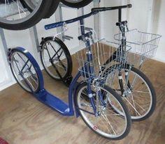 "ADULT KICK SCOOTER Foot City Bike Amish Basket Handbrake 20"" Racing Wheels BLACK"