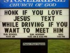 funny church signs!