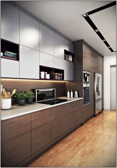 Kitchen cabinet design ideas can extend therefore only to how your house is la Modern Kitchen Cabinets Cabinet Design Extend House Ideas Kitchen Design Your Kitchen, Kitchen Cabinet Design, Kitchen Layout, Interior Design Kitchen, Interior Ideas, Modern Interior, Kitchen Cabinet Hardware, Country Interior, Kitchen Handles