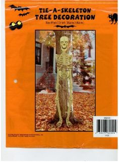 Tie a Skeleton Tree Decoration by Greenbrier international, inc. $3.99 Tree Decorations, Party Games, Skeleton, Party Supplies, Tie, Crafts, Manualidades, Party Items, Nursery Tree Mural