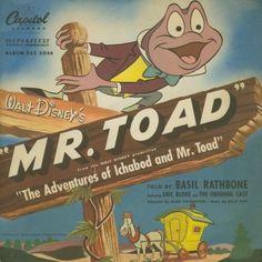 Walt Disney's Mr Toad told by Basil Rathbone and other free audio books Walt Disney Story, Disney Films, Disney Magic, Vintage Disney Posters, Mr Toad, Make Mine Music, Film Story, Disney Addict, Animated Cartoons