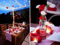 Love this outdoor Valentine's scene.