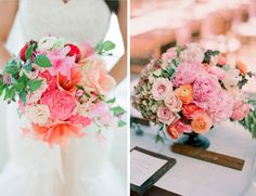 Pink and Orange- great colors for summer weddings