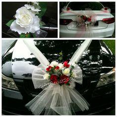 Bridal car decoration 17 purple artificial roses weddings bridal car decoration 18 red white silk roses junglespirit Gallery