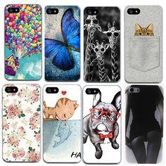 귀여운 만화 전화 가방 케이스 iphone 5 5 s se 6 6 초 7 7 플러스 소프트 tpu 슬림 패턴 보호 커버 coque Fundas
