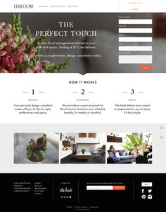 A beautiful landing page example, its feels a pleasure to look at. Besides this it also has some conversation elements and clear and concise form fill out giving more specific view.