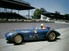 Bill Vukovich 1955. The year he lost his life on the backstretch.  An incredible Driver..that was also the first race I ever attended. At the ripe age of 8