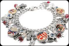 Americana Charm Bracelet - Blackberry Designs Jewelry