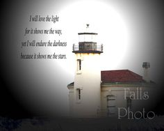 Lighthouse print with quote 8x10. $15.00, via Etsy.