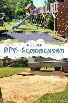 Sandkasten selber bauen – Alle Infos, Erfahrungen und Tipps ✔ For this sandbox only a big hole and a lot of sand is needed. With weed fleece we prevent greens in the sandpit. Your children will be amazed if they have their own playground in the garden! Organic Farming, Organic Gardening, Build A Sandbox, Sand Pit, Diy Garden Projects, Garden Ideas, Backyard Ideas, Easy Garden, Build Your Own