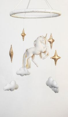Unicorn Baby Mobile White Baby Nursery Decor Horse Decor Gold Baby Shower Gift neutral Stars and Clouds Crib Mobile Felt Animal Baby Mobile nursery decor This item is unavailable Horse Nursery, Baby Nursery Decor, White Nursery, Baby Decor, Cool Baby, Felt Animals, Baby Animals, Best Baby Toys, Diy Crib