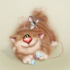14-Chats en mignonnes illustrations ( A.D)