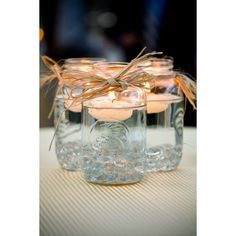 Mason Jars For Wedding Decorations Rustic, Beautiful Cheap! found on Polyvore