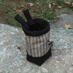 Chalk Bag for Rock Climbers Handstitched Top by ClimbAddictDesigns #chalkbags #climbing