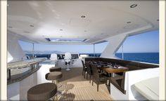 Ocean Alexander 85Euro-Fly Bridge-Forward View-Custom Yacht Interior Design-Destry Darr Designs