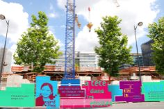 Le grand paris_habillage chantier / projet de Diplôme Estienne / A.Juston_C.Guyart_M.Férail_M.Pignard