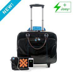 Kristen Wheeled Laptop Bag + Joey® Portable Charger - urbanjunket