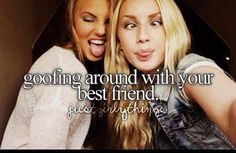 justgirlythings ~goofing around with your best friend~
