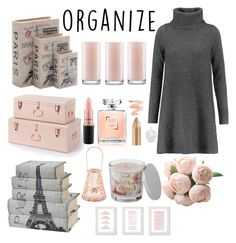 """declutter"" by dareenka ❤ liked on Polyvore featuring interior, interiors, interior design, home, home decor, interior decorating, Madeleine Thompson, Home Decorators Collection, Kate Spade and MAC Cosmetics"