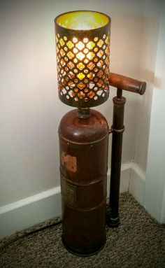 AMC77 Vintage copper sprayer lamp (steampunk industrial)